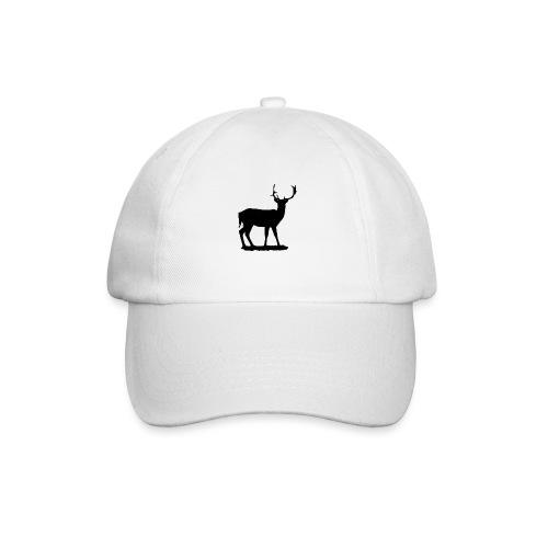 Silueta ciervo en negro - Gorra béisbol