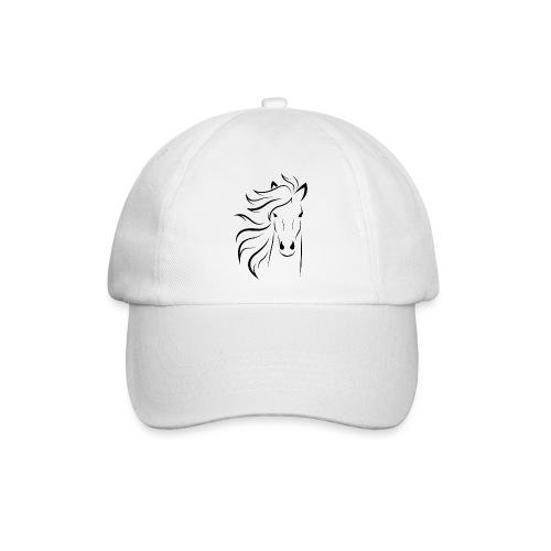 pferd silhouette - Baseballkappe