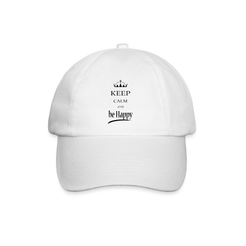 keep_calm and_be_happy-01 - Cappello con visiera