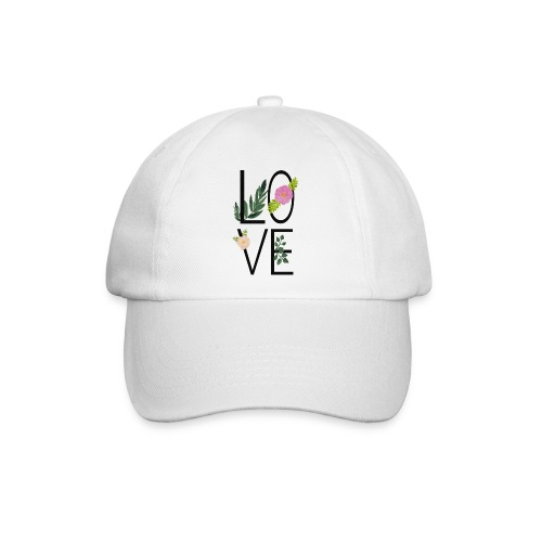Love Sign with flowers - Baseball Cap