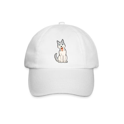 Husky grigio occhi azzurri - Cappello con visiera