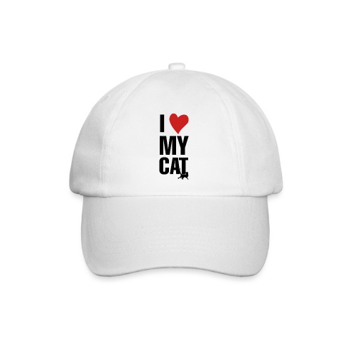 I_LOVE_MY_CAT-png - Gorra béisbol