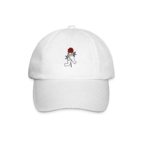 Fiore rosso - Cappello con visiera