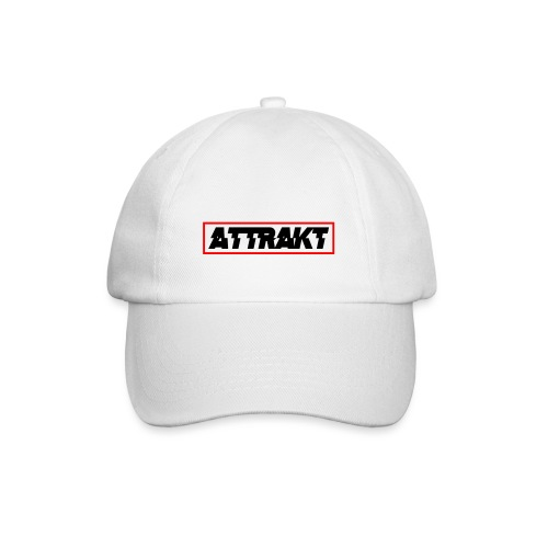 attrakt black text - Baseball Cap