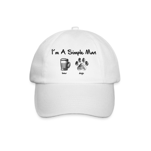 Vorschau: simple man dogs beer - Baseballkappe