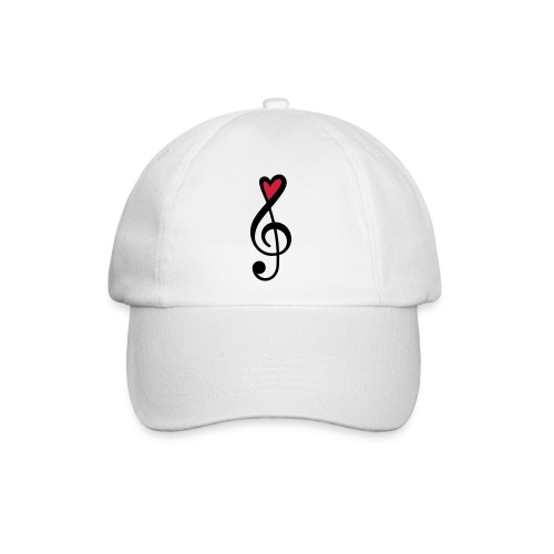 Notenschlüssel Herz rot Musik - Baseballkappe
