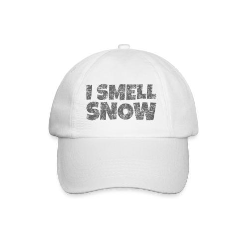 I Smell Snow (Dunkelgrau) Schnee, Wintersport, Ski - Baseballkappe