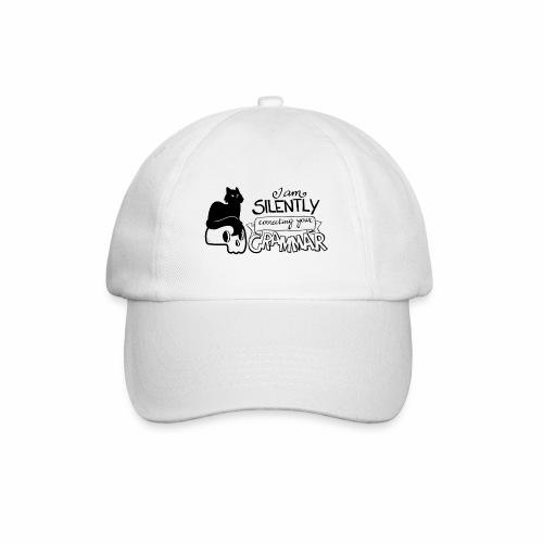 Gatto sto correggendo la tua grammatica - Cappello con visiera