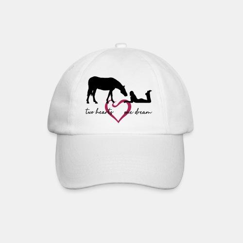 two hearts one dream liegendes Mädchen Pferd - Baseballkappe