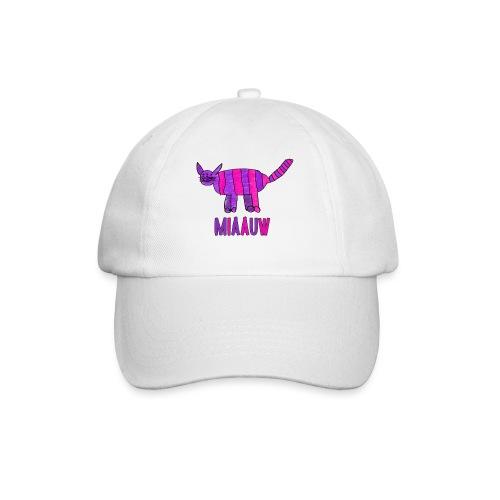 miaauw, paarse poes - Baseballcap
