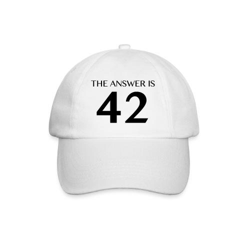 The Answer is 42 Black - Baseball Cap