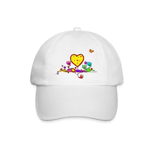 Blumengruß mit Herz - Baseballkappe