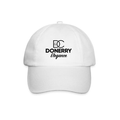 Donerry Elegance Black Logo on White - Baseball Cap