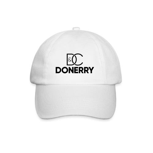 DONERRY Black Logo on White - Baseball Cap