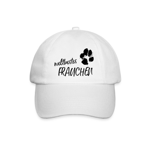 Vorschau: weltbestes Frauchen Pfote Hund - Baseballkappe