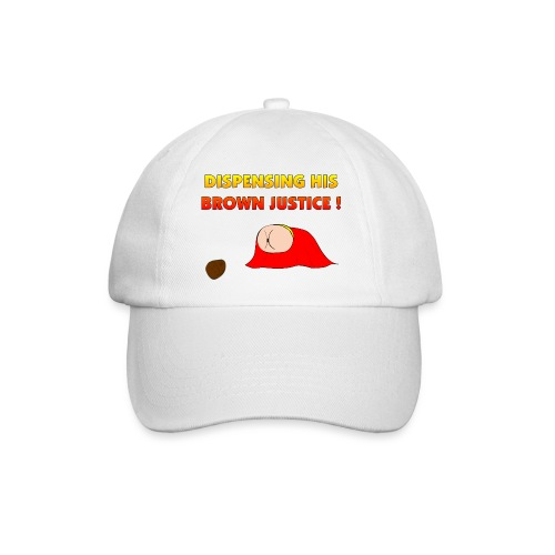 Flying Bum (diagonal) - with text - Baseball Cap