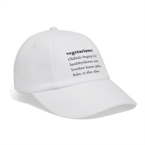 Vegetarianer definisjon - Baseballcap