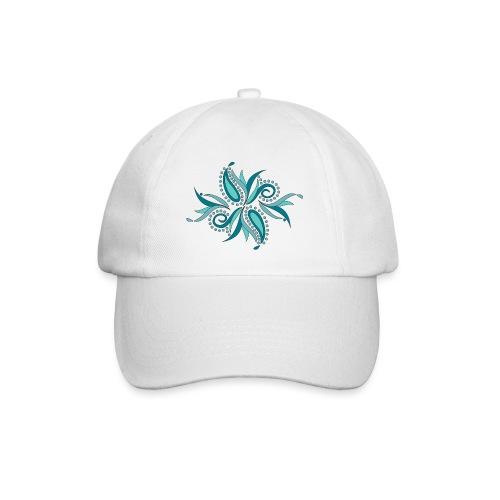 petali e foglie astratte - Cappello con visiera