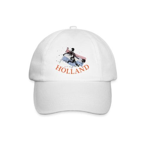 HOLLANDSE VLAG MET VOETBALLER in ACTIE - Baseballcap