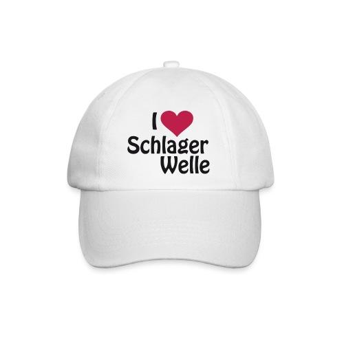 I love Schlagerwelle - Logo in Schwarz - Baseballkappe