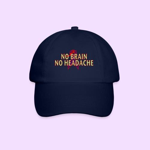 no brain no headache png - Baseballcap