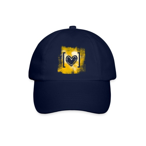 Herz / gelb - Baseballkappe