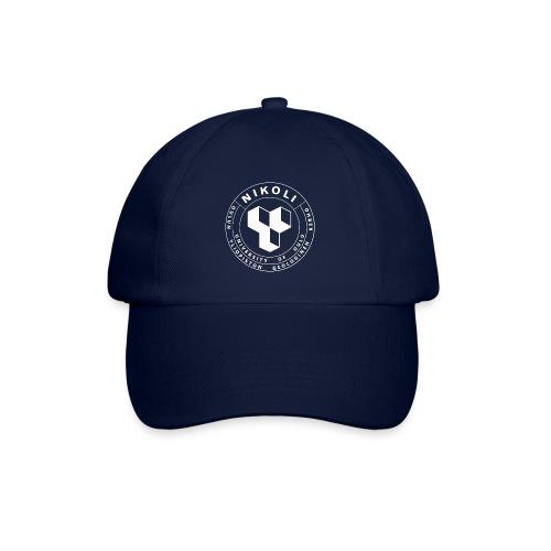 Nikolin valkoinen logo - Lippalakki