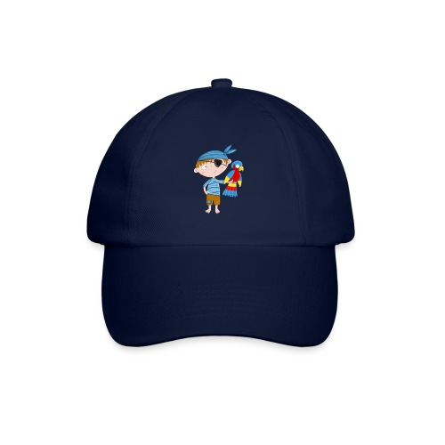 Kleiner Pirat mit Papagei - Baseballkappe