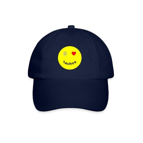 camiseta paz amor techno - Gorra béisbol