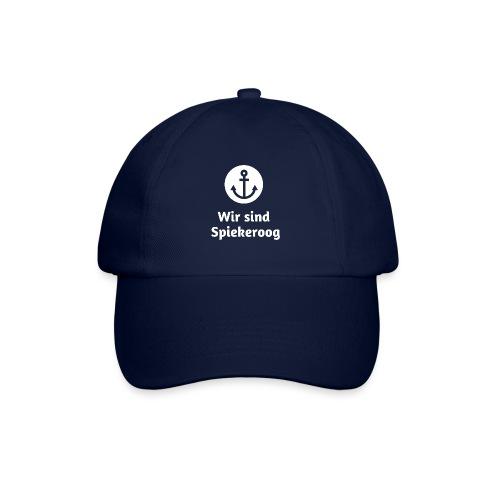 Wir sind Spiekeroog Logo weiss - Baseballkappe