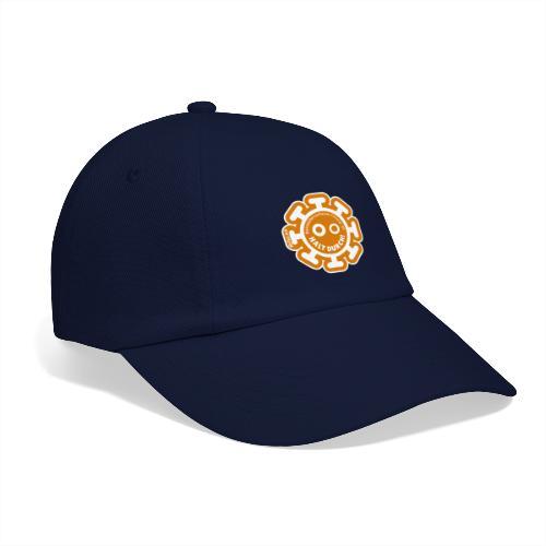 Corona Virus #WirBleibenZuhause arancione - Cappello con visiera
