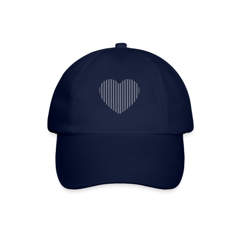heart_striped.png - Baseball Cap