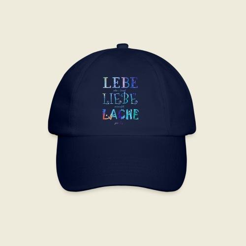 Lebe Liebe Lache bunt - Baseballkappe