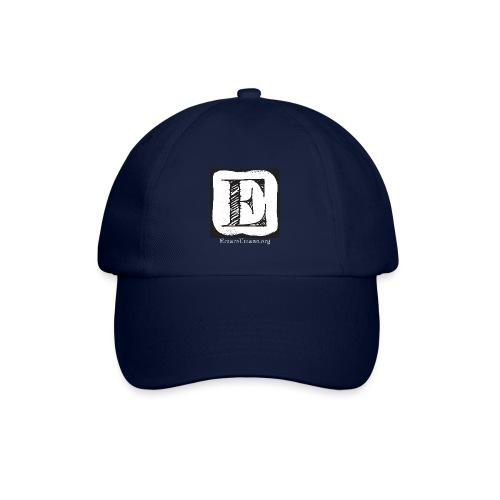 Logo ErrareUmano con scritta bianca - Cappello con visiera