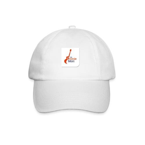 de oranje man logo groot op wit vlak - Baseballcap