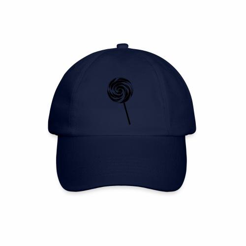 Retro Lutscher - Lollipop Design - Schwarz Weiß - Baseballkappe
