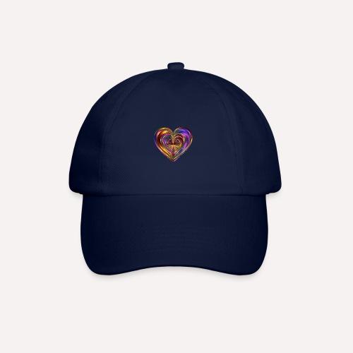 Colorful Love Heart Print T-shirts And Apparel - Baseball Cap