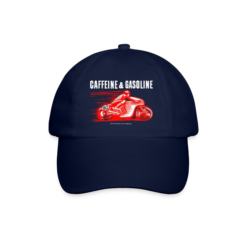 Caffeine & Gasoline white text - Baseball Cap
