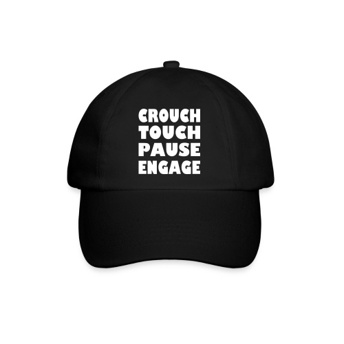crouch touch pause engage m - Baseball Cap