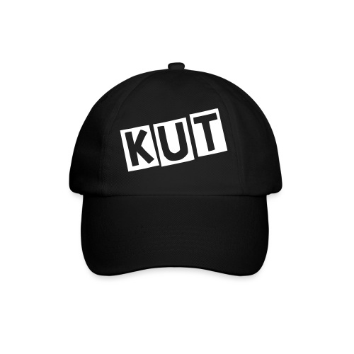 Black Kitten Under Tire on Cap - Baseballcap