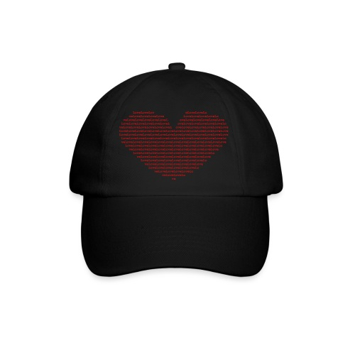 Isle of red Ascii Heart - Baseball Cap