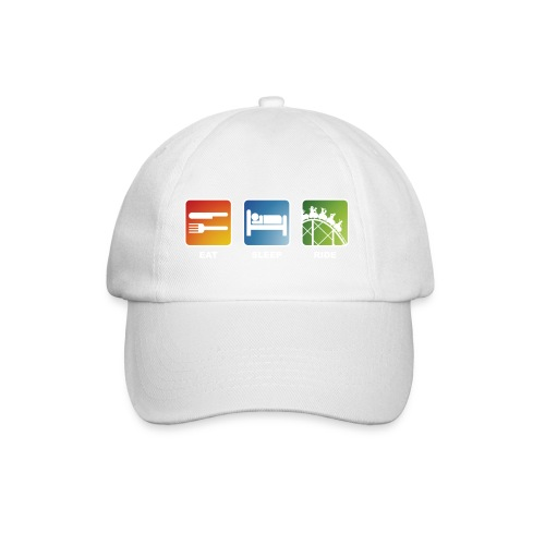 Eat, Sleep, Ride! - T-Shirt Schwarz - Baseballkappe