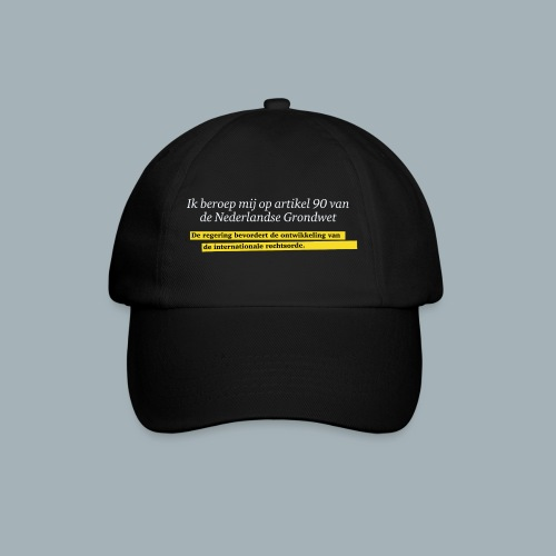 Nederlandse Grondwet T-Shirt - Artikel 90 - Baseballcap