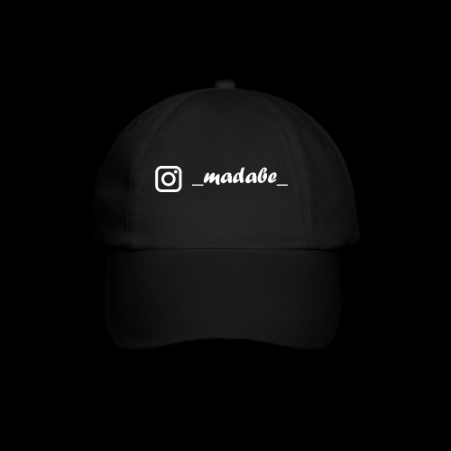 madabe instagram weiss - Baseballkappe