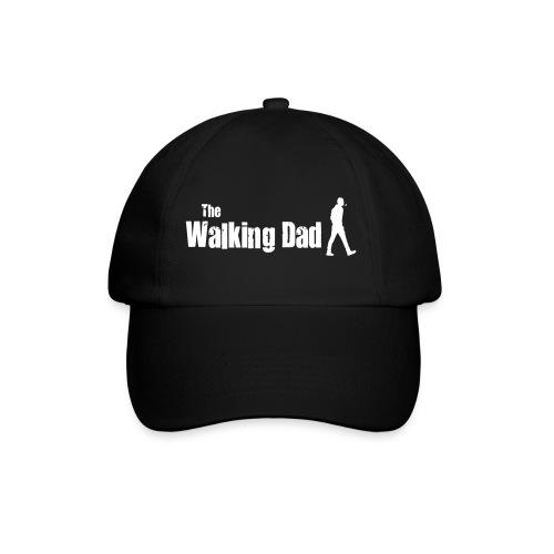 the walking dad white text on black - Baseball Cap