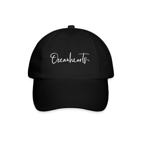 Oceanhearts Logo white - Baseballkappe