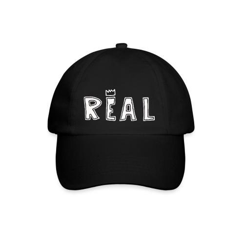 REAL (White) - Baseballcap