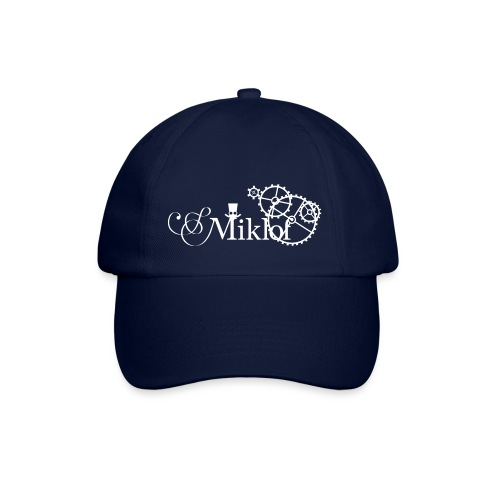 miklof logo white 3000px - Baseball Cap