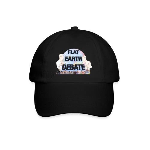 Flat Earth Debate Cartoon - Baseball Cap