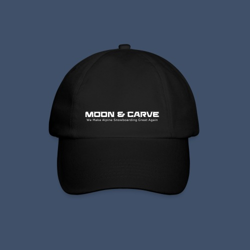 Moon & Carve white - Baseballkappe